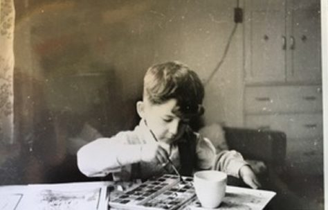 Me in living room of 15 Bonchurch Road Southampton about 1955