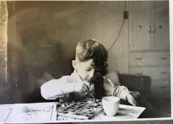 Me in living room of 15 Bonchurch Road Southampton about 1955   Geoff Lindsay