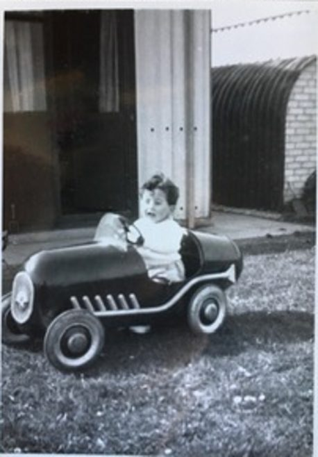 That racing car again maybe 1952. 15 Bonchurch Road, Southampton | Geoff Lindsay