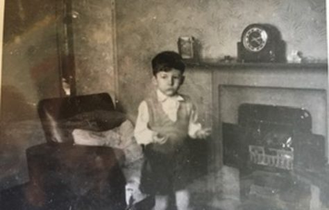 Me playing with fire early 1950s. 15 Bonchurch Road, Southampton