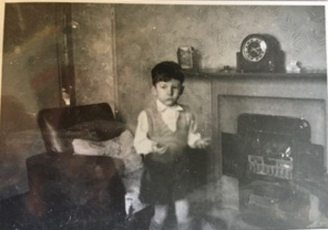 Me playing with fire early 1950s. 15 Bonchurch Road, Southampton | Geoff Lindsay