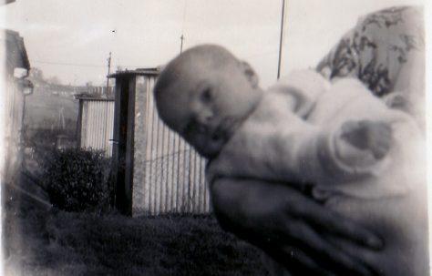 Age 2 months January 1955. 70 Lockley Crescent, Hatfield, Hertfordshire