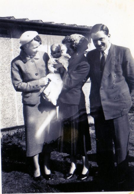 Christening & godparents, April 17th 1955. 70 Lockley Crescent, Hatfield, Hertfordshire | Gillian Beckford