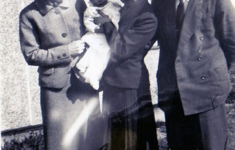 Christening & godparents, April 17th 1955. 70 Lockley Crescent, Hatfield, Hertfordshire
