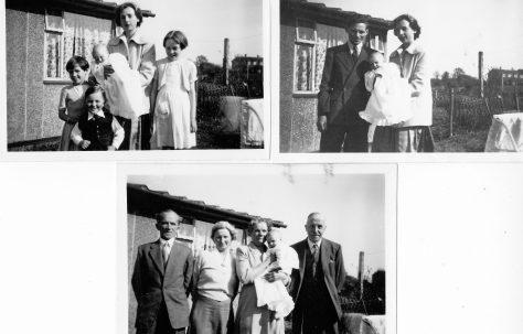 Christening Apr 17 1955. 70 Lockley Crescent, Hatfield, Hertfordshire