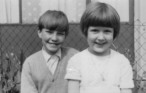 Nick and his cousin, Roding Avenue, Barking