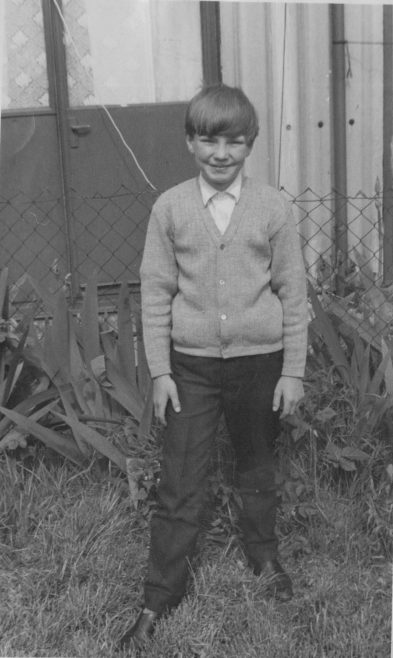 Nick Dowsett with No. 12 Roding Avenue, Barking in the background | Nick Dowsett