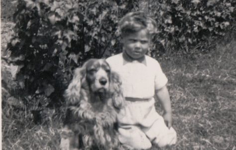 Dog and child (unknown). 13 Mill Close, Ringmer