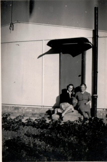 Margaret and mother at the side entrance. 13 Mill Close, Ringmer | Kevin Arnold
