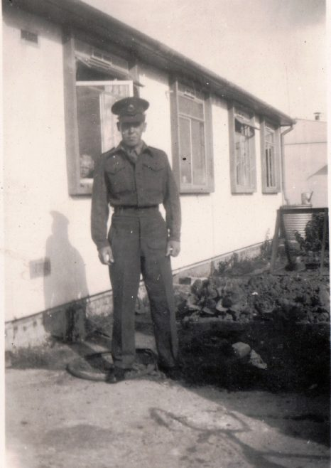 My father, George Arnold, visiting home on National Service. He was in the Royal Military Police 1947-1949. 13 Mill Close, Ringmer | Kevin Arnold