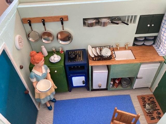 Kitchen interior Uni-Seco Mk3 scale model | Philip Rockhill