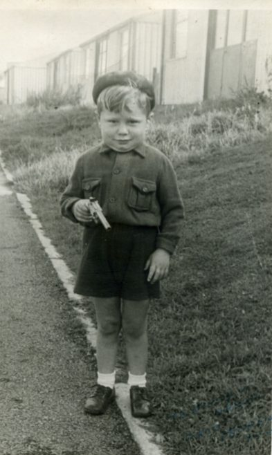 Taken was I was about three, with gun and a little bit too much weight. Llanelli Place, Fforestffach | Michael Mutton